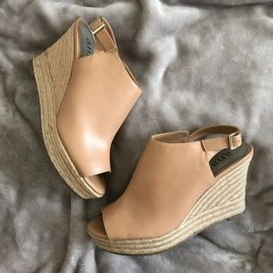 ANA Nude Wedge Sandals